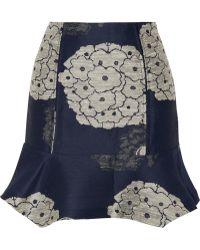 Michael van der Ham - Silk-Jacquard Mini Skirt - Lyst
