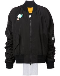 Bernhard Willhelm - Fringed Back Bomber Jacket - Lyst