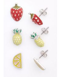 Nova Inc. Fruits You Well Earring Set - Lyst
