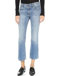 Alexander Wang - Trap Cropped Boot Cut Jeans - Lyst