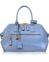 Marc Jacobs Textured Medium Sky Incognito Satchel Bag - Lyst