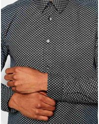 Wincer & Plant - Smart Shirt With Paisley Print Slim Fit - Lyst