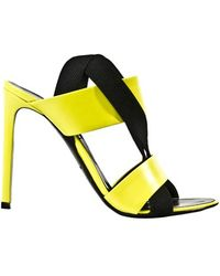 Balenciaga Neon Leather Cross Sandals - Lyst