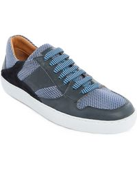 Paul & Joe Hooper Blue Low-Top Dual Fabric Sneakers - Lyst