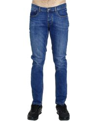 Iceberg Milan Used Stretch Denim Slim Jeans With Hand On The Pocket Behind blue - Lyst