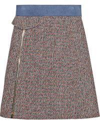 Chloé Wool-blend Tweed Skirt - Lyst