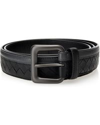 Bottega Veneta Intrecciato Leather 35cm Belt - Lyst