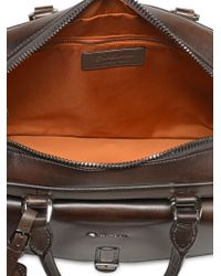 Santoni - Large Grained Leather Briefcase - Lyst