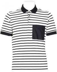 MSGM Pique' Viscose Polo Shirt Stripes Print blue - Lyst