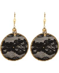 Clemmie Watson - Lace Hoop Earrings - Lyst