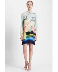 Mary Katrantzou Print Silk Shirtdress - Lyst