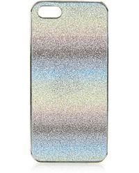 Topshop Rainbow Glitter Iphone 5 Case - Lyst