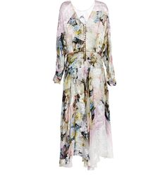 Preen Printed Satin Devore Cecily Dress in Painted Flower - Lyst