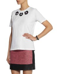 Lulu & Co | Embellished Cotton T-Shirt | Lyst