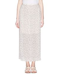 See By Chloé Strawberry Print Pleat Chiffon Skirt white - Lyst