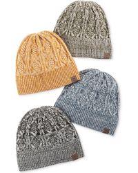Timberland - Chunky Knit Cuff Hat - Lyst 7decd38bfeea