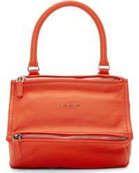 Givenchy Orange Small Sugar Pandora Bag - Lyst