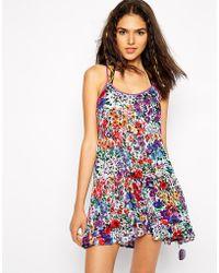 MINKPINK Garden Floral Beach Dress - Lyst
