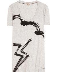 Burberry Brit Printed Cotton T-shirt - Gray