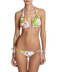 Shoshanna Floral String Bikini Top floral - Lyst