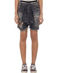 R13 Distressed Harem Shorts - Lyst