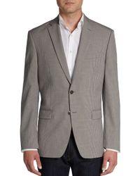 Calvin Klein Slim-Fit Mini Checked Wool Sportcoat - Lyst