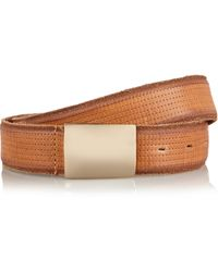 Isabel Marant Kitano Perforated Leather Belt - Lyst