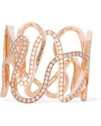 Repossi - White Noise 18-karat Rose Gold Diamond Ring - Lyst