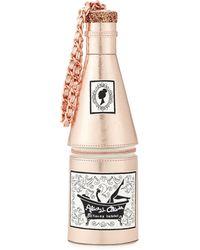 Alice + Olivia Champagne Metallic Wristlet Clutch - Lyst