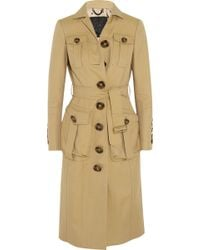 Burberry Prorsum - Cotton-Blend Gabardine Coat - Lyst