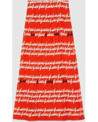 Gucci | Gucci Print Silk Pleated Skirt | Lyst