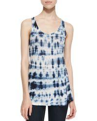 Lily Aldridge For Velvet - City Tie Dye Linen Top - Lyst