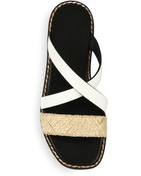 Creatures of the Wind - Reeve Leather & Raffia Crisscross Sandals - Lyst