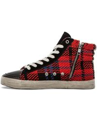 Kim & Zozi Red Plaid Sneaker - Lyst