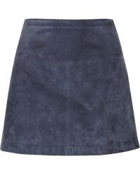 Burberry Brit - Suede Mini Skirt - Lyst