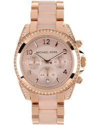 Michael Kors Pink Wrist Watch - Lyst