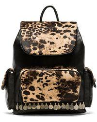 Simone Camille Adorned Haircalf Backpack - Jaguar/Black - Multicolor