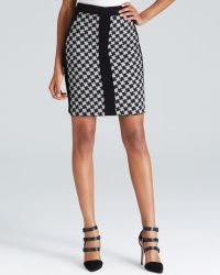 Adrianna Papell - Pattern Block Pencil Skirt - Lyst