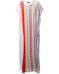Missoni Zig Zag Crochet Long Dress - Lyst