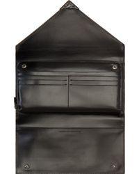 Alexander Wang Black Embossed Leather Prisma Envelope Clutch - Lyst