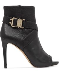 Vince Camuto Fruell Open-toe Booties - Black