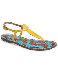 Sam Edelman 'Gigi' Leather Sandal - Lyst