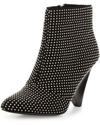 Vince Camuto Signature - Galla Studded Suede Bootie - Lyst
