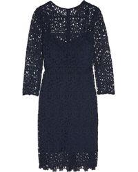 J.Crew - - Cadenza Guipure Lace Dress - Navy - Lyst