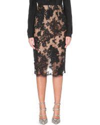 Oscar de la Renta Lace Pencil Skirt - For Women - Lyst