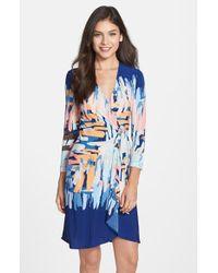 BCBGMAXAZRIA 'Adele' Print Jersey Wrap Dress - Lyst