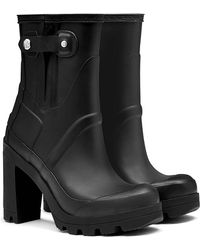 Hunter High Heel Boots In Matte Black High Heel Boots In Matte Black - Lyst