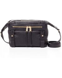 She + Lo - Rise Above Perforated Leather Crossbody Bag - Lyst