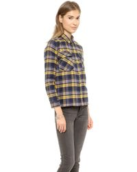 Roseanna Leone Sherpa Lined Button Down  Jaune - Lyst