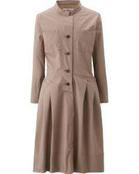 Uniqlo Women (+J) Stand Collar Long Sleeve Shirt Dress - Lyst